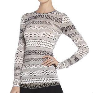 BCBG long sleeve knit top